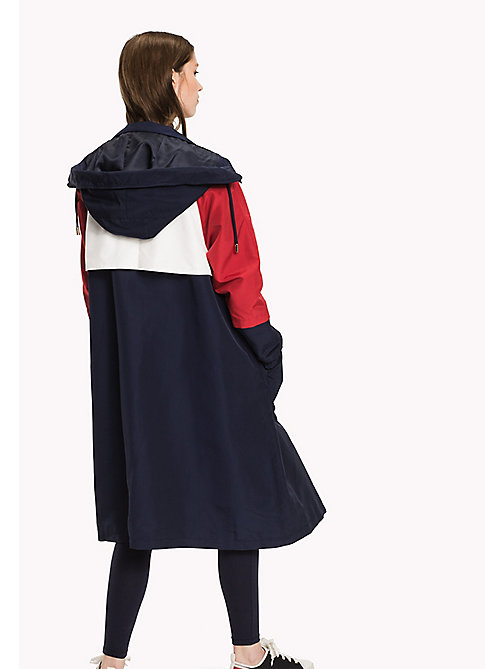 TOMMY HILFIGER Iconic Colourblocked Parka - PEACOAT / MULTI - TOMMY HILFIGER Coats & Jackets - detail image 1