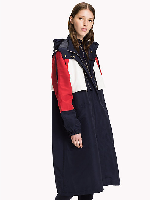 TOMMY HILFIGER Iconic Colourblocked Parka - PEACOAT / MULTI - TOMMY HILFIGER Coats & Jackets - main image
