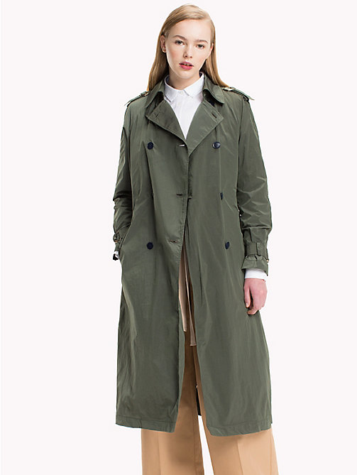 TOMMY HILFIGER Technical Nylon Trench - THYME - TOMMY HILFIGER Coats & Jackets - main image