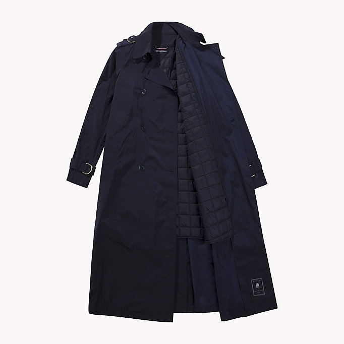 TOMMY HILFIGER Technical Nylon Trench - THYME - TOMMY HILFIGER Women - detail image 4