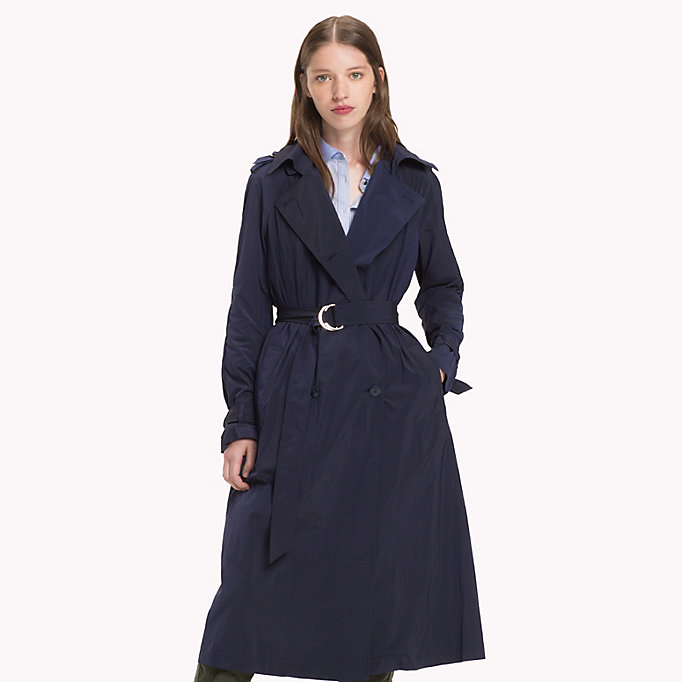 TOMMY HILFIGER Technical Nylon Trench - THYME - TOMMY HILFIGER Women - main image