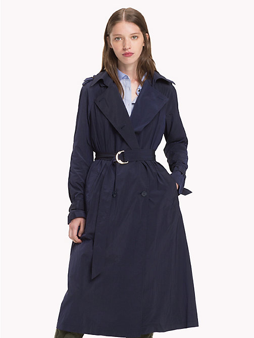 TOMMY HILFIGER Technical Nylon Trench - PEACOAT - TOMMY HILFIGER Coats & Jackets - main image