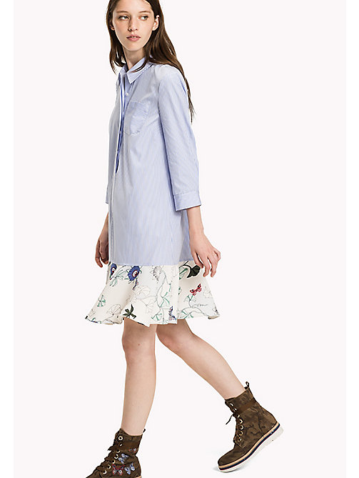 TOMMY HILFIGER Falred Hem Shirt Dress - ITHACA FLORAL / MULTI - TOMMY HILFIGER Dresses & Jumpsuits - main image