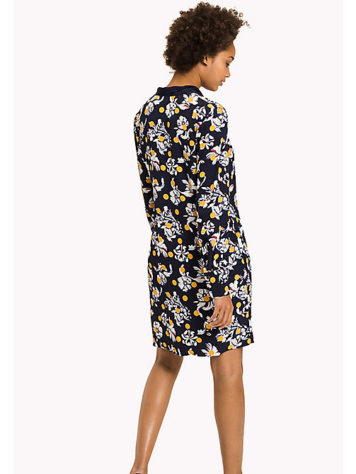 TOMMY HILFIGER Regular Fit Floral Print Dress - FLOWERY DOT / PEACOAT - TOMMY HILFIGER Dresses & Jumpsuits - detail image 1