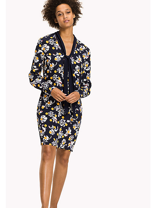 TOMMY HILFIGER Regular Fit Floral Print Dress - FLOWERY DOT / PEACOAT - TOMMY HILFIGER Dresses & Jumpsuits - main image