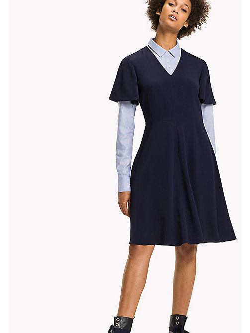 TOMMY HILFIGER Fit and Flare Striped Dress - PEACOAT - TOMMY HILFIGER Dresses & Jumpsuits - main image