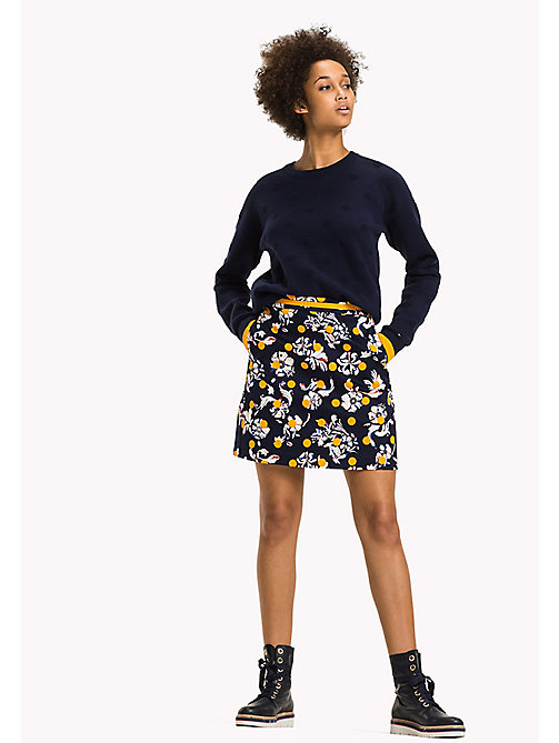 TOMMY HILFIGER Printed Regular Fit Skirt - FLOWERY DOT / PEACOAT - TOMMY HILFIGER Skirts - main image