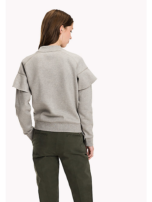 TOMMY HILFIGER Regular Fit Raglanpullover - LIGHT GREY HTR - TOMMY HILFIGER Kleidung - main image 1