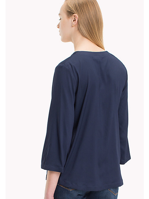 TOMMY HILFIGER Regular Fit Ruffle Top - PEACOAT -  Tops - detail image 1