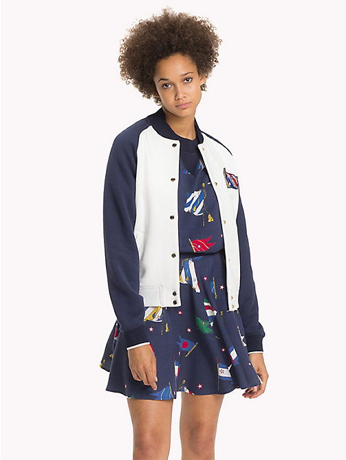 TOMMY HILFIGER Athletic Bomber Jacket - SNOW WHITE / PEACOAT - TOMMY HILFIGER Women - main image