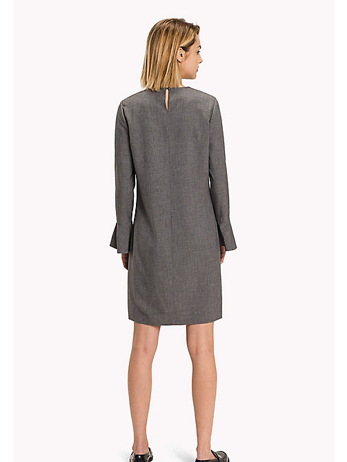 TOMMY HILFIGER Regular Fit Flared Cuff Dress - MEDIUM GREY HTR - TOMMY HILFIGER Dresses, Jumpsuits & Skirts - detail image 1