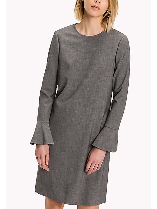 TOMMY HILFIGER Regular Fit Flared Cuff Dress - MEDIUM GREY HTR - TOMMY HILFIGER Dresses, Jumpsuits & Skirts - main image