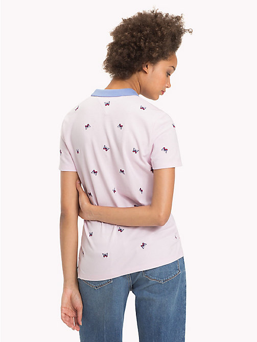 TOMMY HILFIGER Regular Fit Polo - BUTTERFLY ALL OVER PRT / LIGHT LILAC - TOMMY HILFIGER Tops - detail image 1