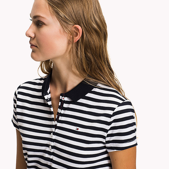 TOMMY HILFIGER Fitted Stripe Polo - ORCHID PINK / CLASSIC WHITE STP - TOMMY HILFIGER Clothing - detail image 2