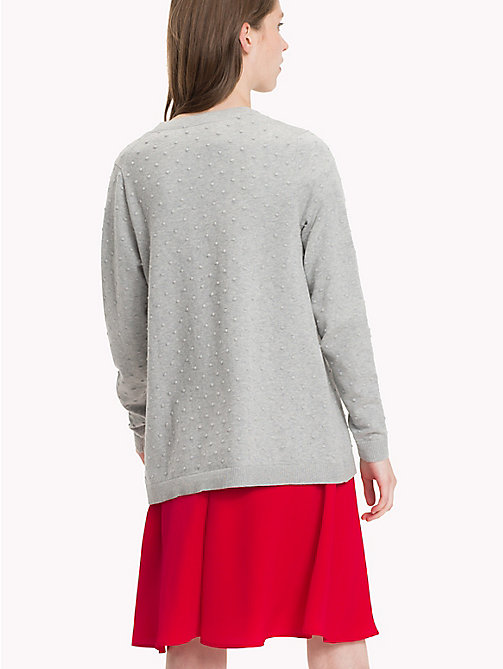 TOMMY HILFIGER Fitted High Neck Jumper - LIGHT GREY HTR - TOMMY HILFIGER Knitwear - detail image 1