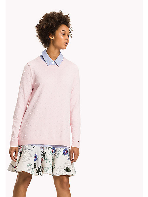 TOMMY HILFIGER Fitted High Neck Jumper - ORCHID PINK - TOMMY HILFIGER Knitwear - main image