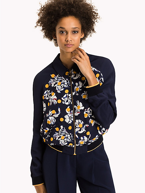 TOMMY HILFIGER Exclusive Relaxed Fit Jacket - FLOWERY DOT / PEACOAT - TOMMY HILFIGER Coats & Jackets - main image