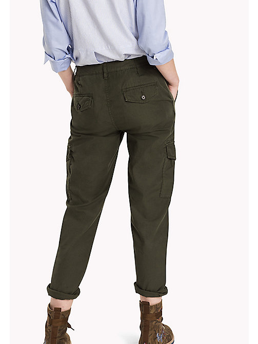 TOMMY HILFIGER Regular Fit Cargo Trousers - THYME - TOMMY HILFIGER Trousers - detail image 1