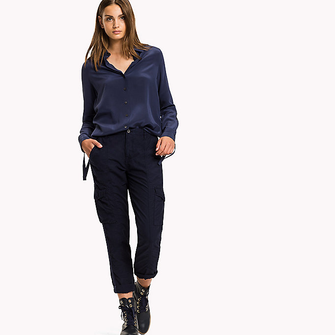TOMMY HILFIGER Regular Fit Cargo Trousers - THYME - TOMMY HILFIGER Women - detail image 3