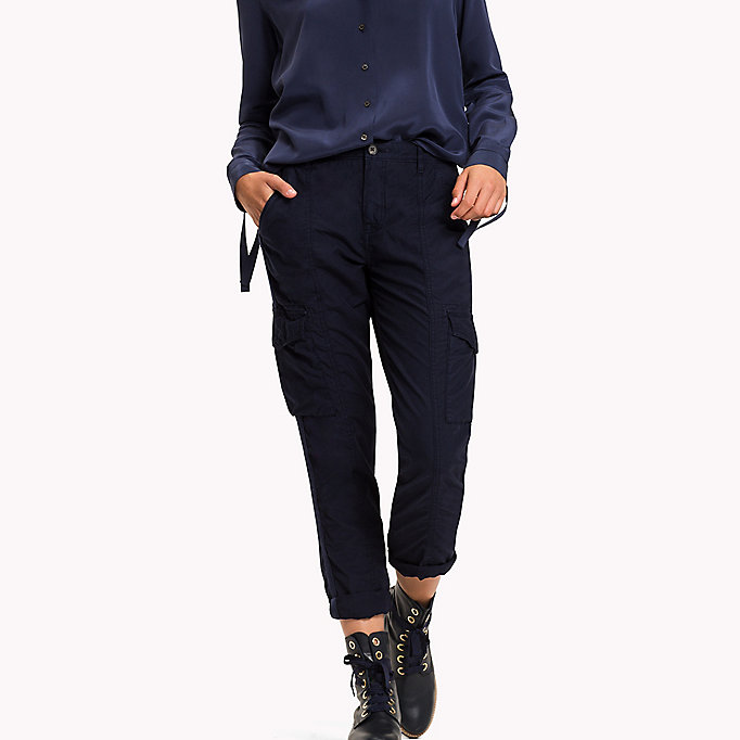 TOMMY HILFIGER Regular Fit Cargo Trousers - THYME - TOMMY HILFIGER Women - main image