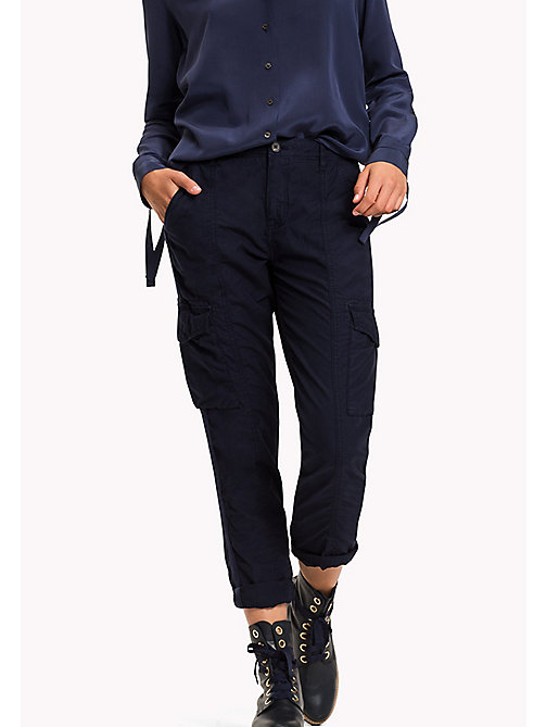 TOMMY HILFIGER Regular Fit Cargo Trousers - PEACOAT - TOMMY HILFIGER Trousers - main image