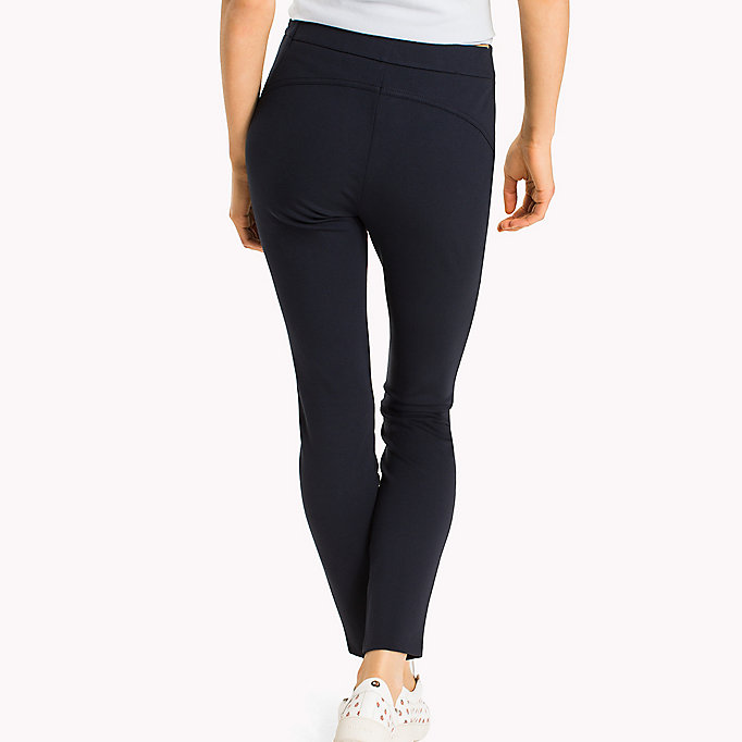 TOMMY HILFIGER Slim Fit Zipped Leggings - BLACK BEAUTY - TOMMY HILFIGER Women - detail image 1