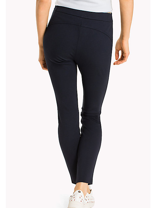 TOMMY HILFIGER Slim Fit Zipped Leggings - MIDNIGHT - TOMMY HILFIGER Trousers - detail image 1