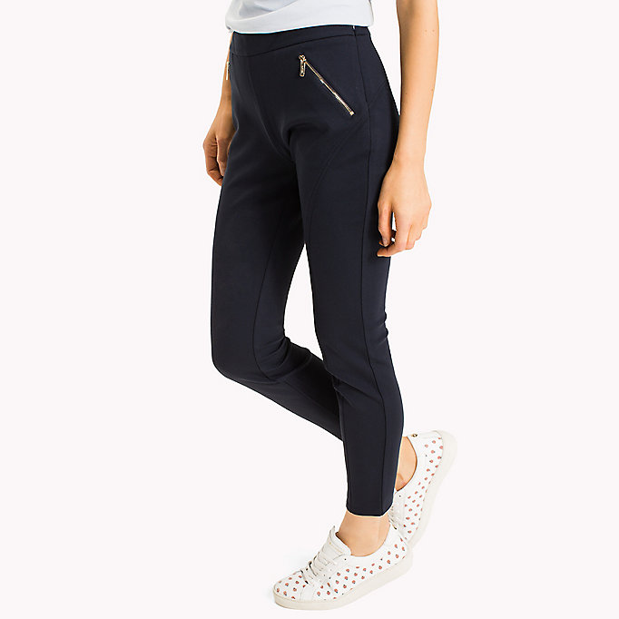 TOMMY HILFIGER Slim Fit Zipped Leggings - BLACK BEAUTY - TOMMY HILFIGER Women - detail image 2