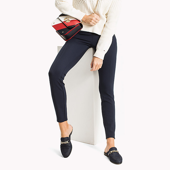 TOMMY HILFIGER Slim Fit Zipped Leggings - BLACK BEAUTY - TOMMY HILFIGER Women - main image
