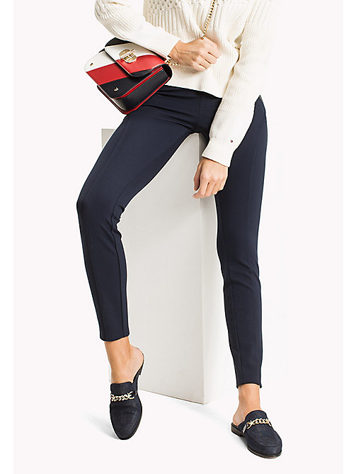 TOMMY HILFIGER Slim Fit Zipped Leggings - MIDNIGHT - TOMMY HILFIGER Trousers - main image