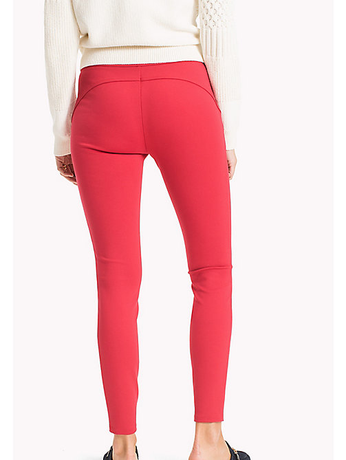 TOMMY HILFIGER Slim Fit Zipped Leggings - CRIMSON - TOMMY HILFIGER Trousers - detail image 1