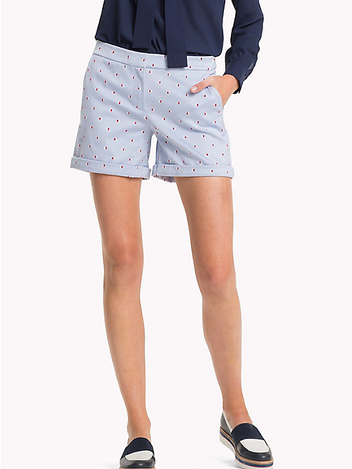 Printed short - BUTTERFLY FLAG / HTR - TOMMY HILFIGER Clothing - main image