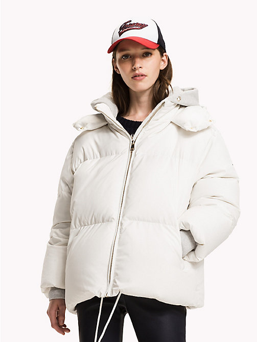 TOMMY HILFIGER Premium Down Coat - SNOW WHITE - TOMMY HILFIGER Coats & Jackets - main image