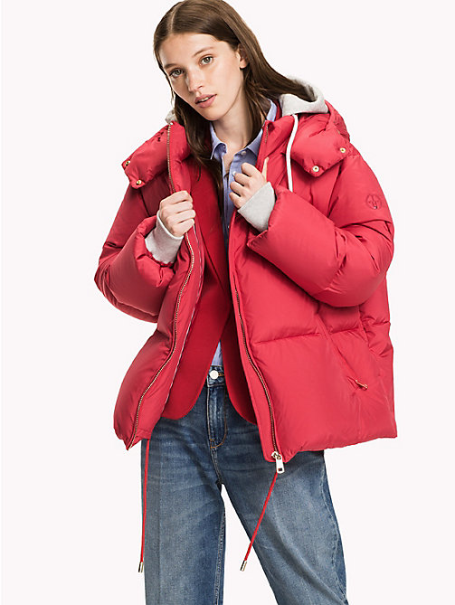 TOMMY HILFIGER Premium Down Coat - CRIMSON - TOMMY HILFIGER Coats & Jackets - main image