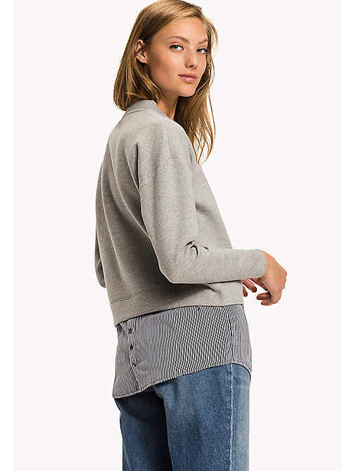 TOMMY HILFIGER Sweatshirt mit Stufensaum - LIGHT GREY HTR - TOMMY HILFIGER Sweatshirts & Kapuzenpullover - main image 1