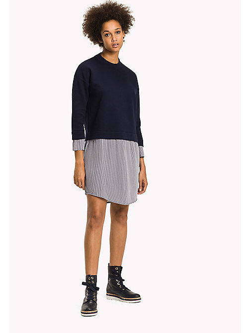 TOMMY HILFIGER Colourblocked Sweater Dress - PEACOAT - TOMMY HILFIGER Dresses & Jumpsuits - main image