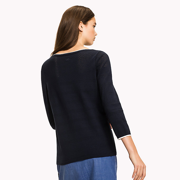 TOMMY HILFIGER Boat Neck Jumper - DUTCH BLUE - TOMMY HILFIGER Women - detail image 1
