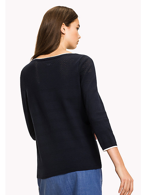 TOMMY HILFIGER Boat Neck Jumper - MIDNIGHT - TOMMY HILFIGER Jumpers - detail image 1