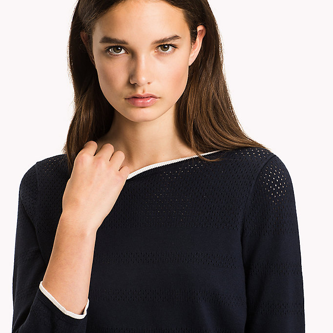 TOMMY HILFIGER Boat Neck Jumper - DUTCH BLUE - TOMMY HILFIGER Women - detail image 2