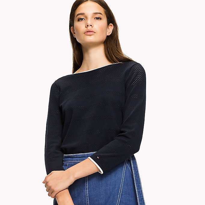 TOMMY HILFIGER Boat Neck Jumper - DUTCH BLUE - TOMMY HILFIGER Women - main image