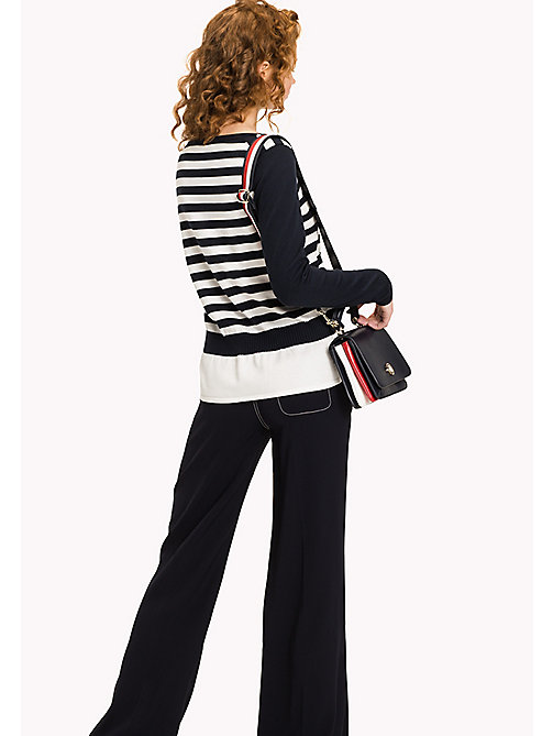 TOMMY HILFIGER Stripe Peplum Jumper - MIDNIGHT / SNOW WHITE - TOMMY HILFIGER The Office Edit - detail image 1