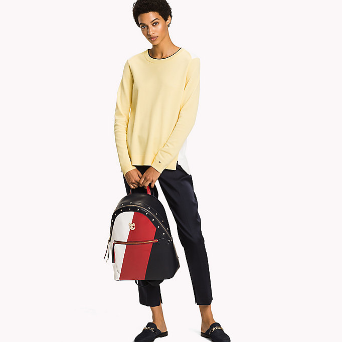 TOMMY HILFIGER Colour-Blocked Classic Fit Jumper - REGATTA / SNOW WHITE - TOMMY HILFIGER Women - main image