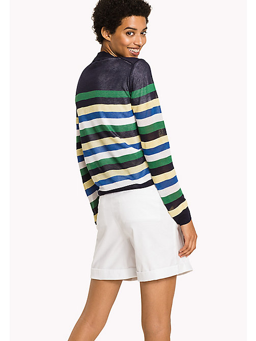 Stripe V-Neck Cardigan - MIDNIGHT / MULTI - TOMMY HILFIGER Clothing - detail image 1