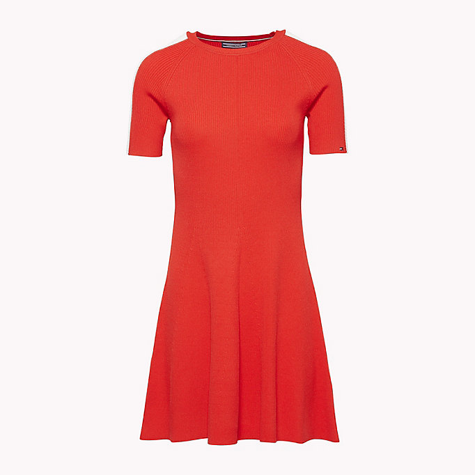 TOMMY HILFIGER Short-Sleeve Sweater Dress - BLACK BEAUTY - TOMMY HILFIGER Women - detail image 3