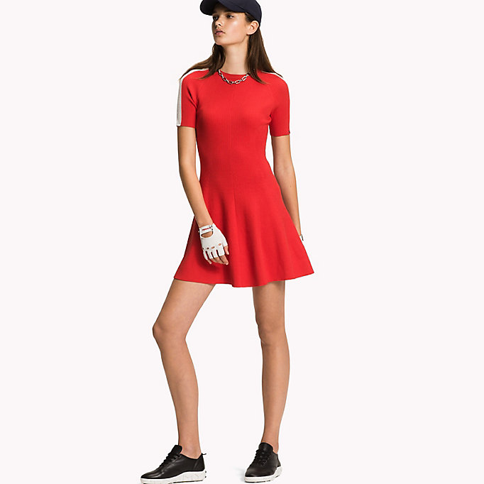 TOMMY HILFIGER Short-Sleeve Sweater Dress - BLACK BEAUTY - TOMMY HILFIGER Women - main image