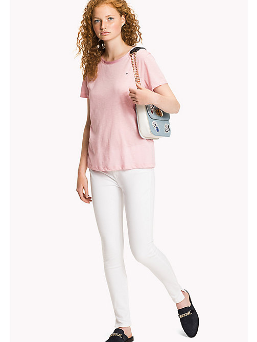 TOMMY HILFIGER Classic Crew Neck T-Shirt - ORCHID PINK - TOMMY HILFIGER T-Shirts - main image