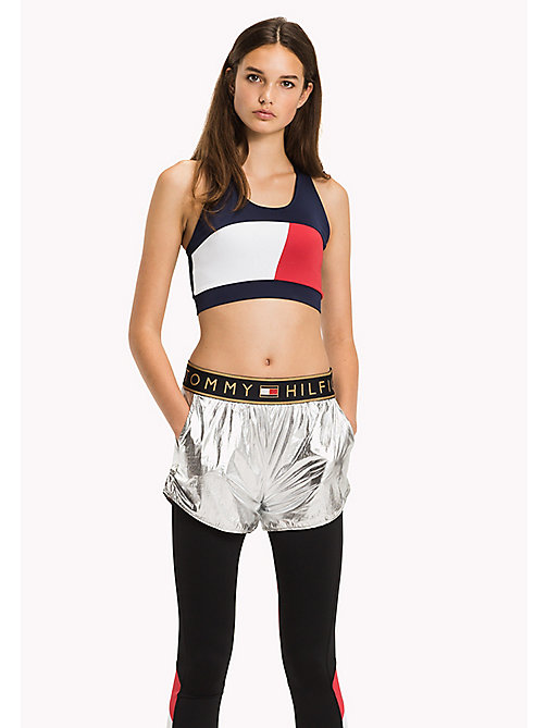 TOMMY HILFIGER Colour-Blocked Bra Top - MIDNIGHT - TOMMY HILFIGER Athleisure - main image
