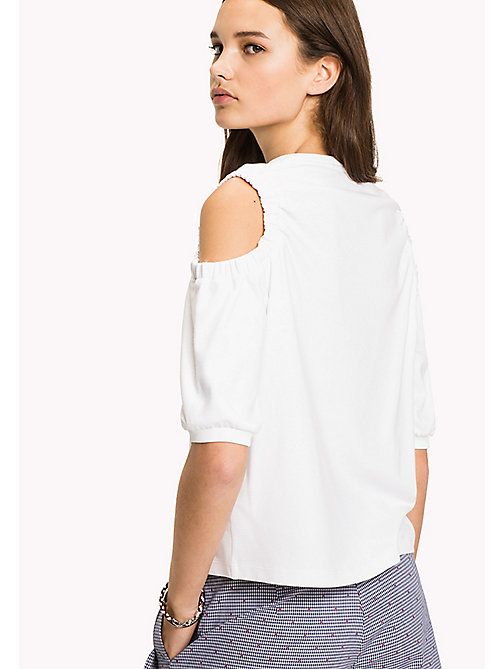 Cold Shoulder Top - CLASSIC WHITE - TOMMY HILFIGER Clothing - detail image 1