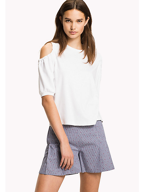 Cold Shoulder Top - CLASSIC WHITE - TOMMY HILFIGER Clothing - main image