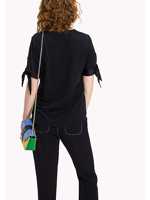 TOMMY HILFIGER Tied Cuff Top - MIDNIGHT - TOMMY HILFIGER New arrivals - detail image 1